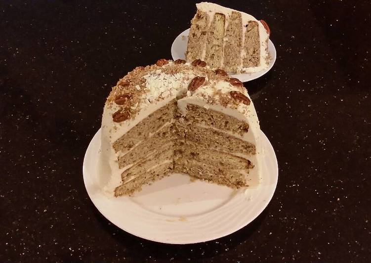 Toasted Butter Pecan Layer Cake with Whipped White Chocolate Cream