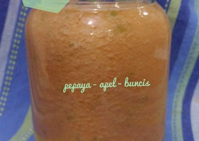 Resep Jus Pab Pepaya Apel Buncis Oleh Juni Dwianggiani Cookpad