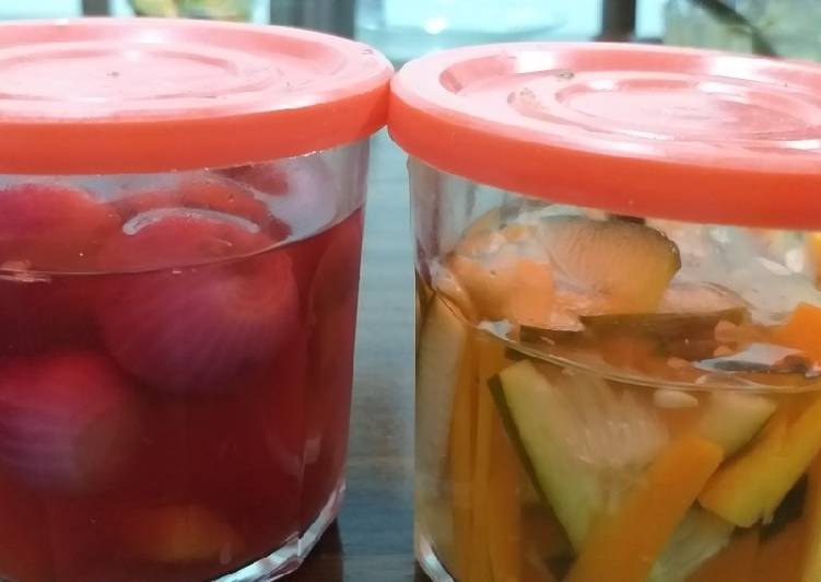 Step-by-Step Guide to Make Super Quick Homemade Onion,Carrots n Cucumber Pickles#authormarathon
