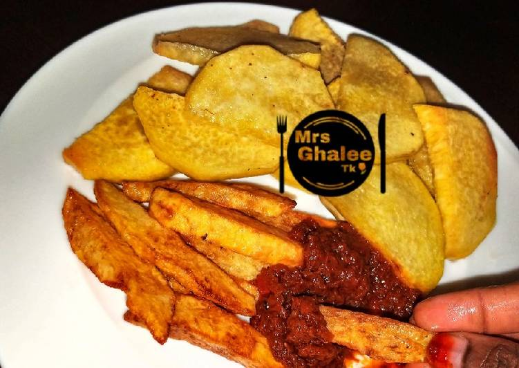 10 Minute Recipe of Speedy Fried Yan and chips