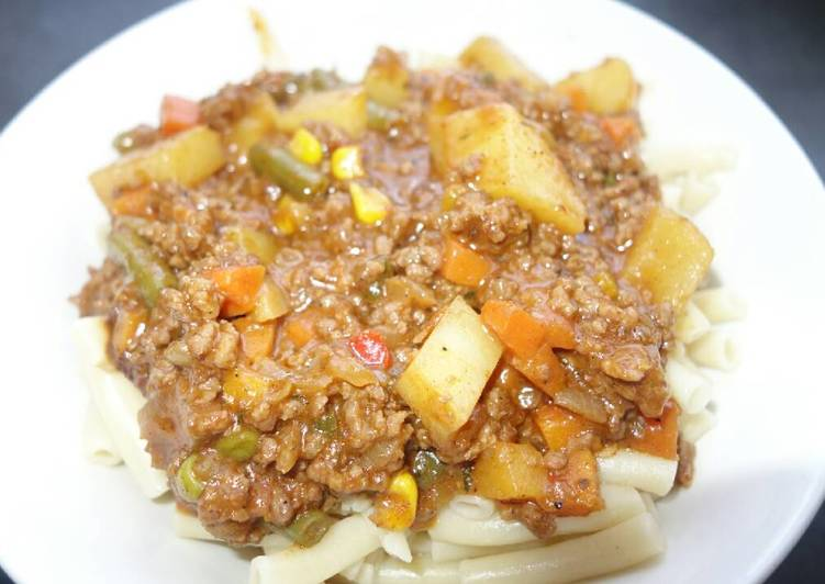 Simple Way to Prepare Perfect Macaroni and mince