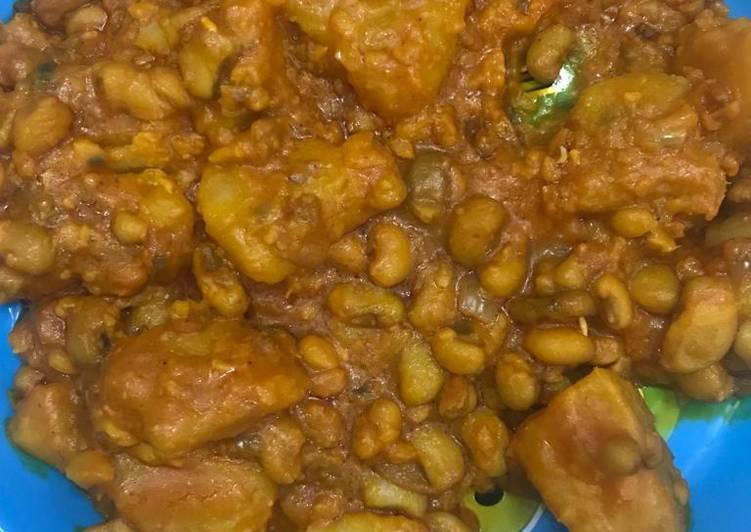 Yam and plantain porridge