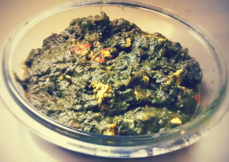 Palak Paneer/Spinach & Cottage Cheese Curry