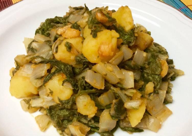 Acelgas Con Patatas Rehogadas Al Pimentón Receta De Mayte