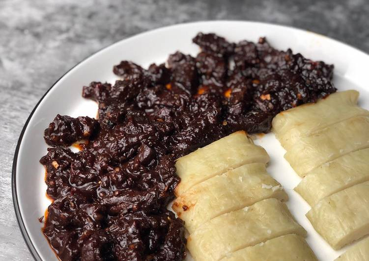 Daging Masak hitam jemah style