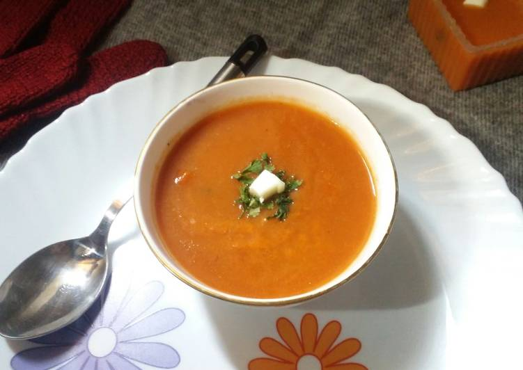 15 Minute Simple Way to Make Speedy Carrot & tomato soup