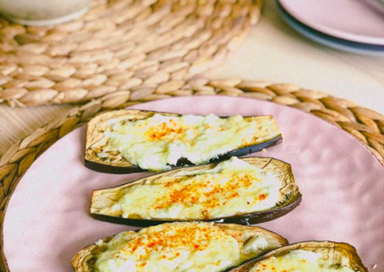 Easiest Way to Cook Appetizing Baked eggplants with mozzarella ?