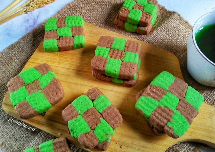 Cookies Pandan Coklat