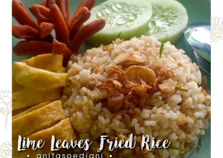 • LIME LEAVES FRIED RICE •