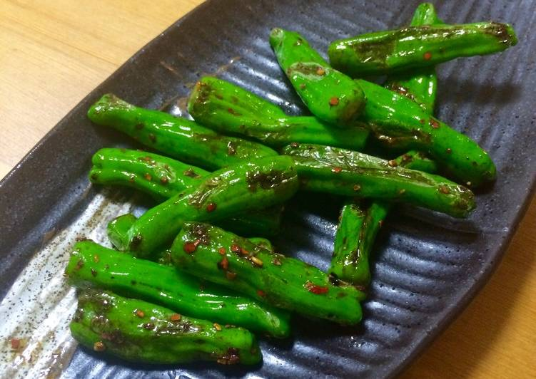 Recipe of Super Quick Homemade 5 minute cooking with Padron Peppers(UK) / Shishito(JP)
