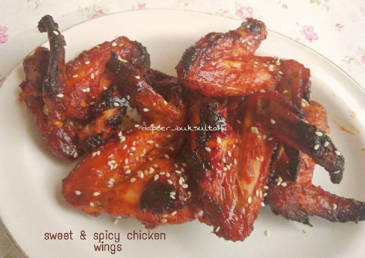 Cara Menghidangkan Sweet & spicy chicken wings Anti Gagal!