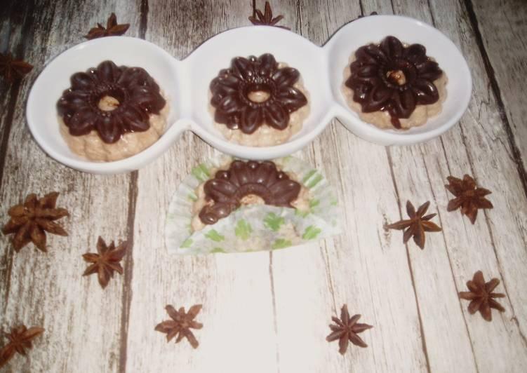 Gâteau glacé sans cuisson au chocolat,biscuit et halva turc
