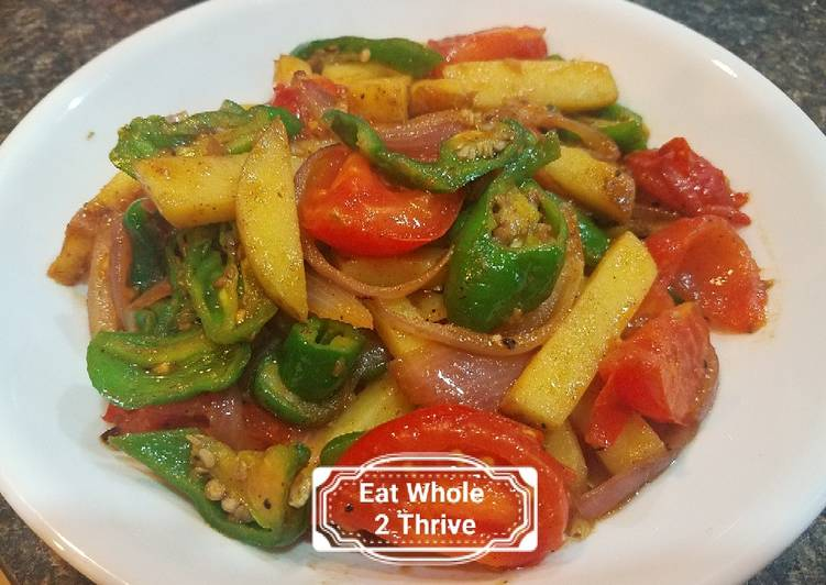 Sautéd potato, young chilli and tomatoes 地三鲜, Some Foods That Help Your Heart