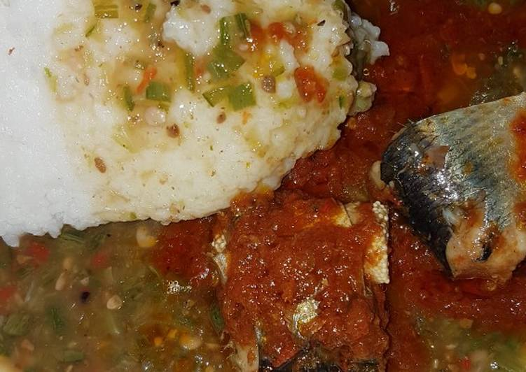 Selecting The Best Foods Will Help You Stay Fit And Healthy Tuwon rice with stew and okro soup 😋