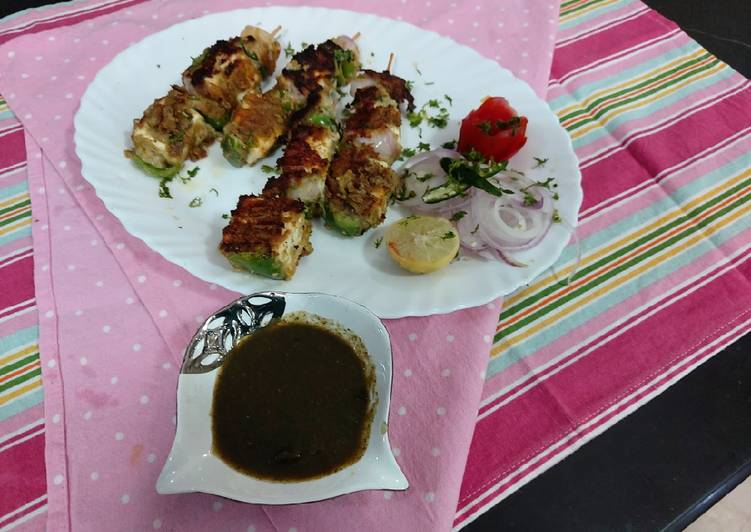 Steps to Prepare Ultimate Saunfia grilled paneer with mint chattny