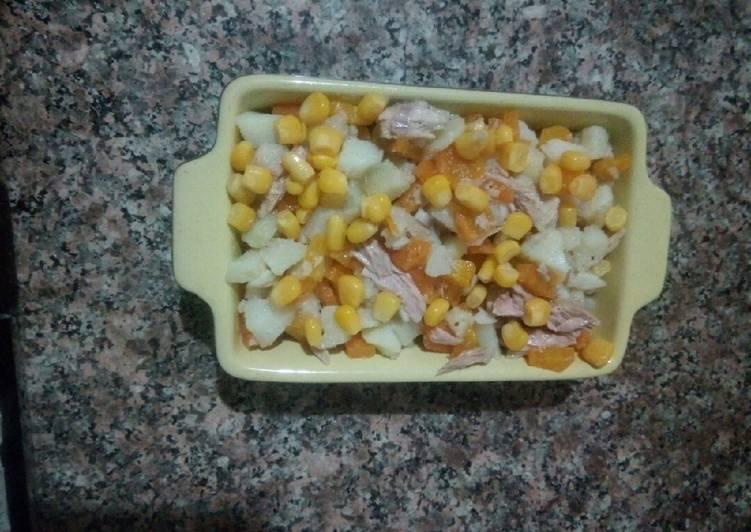 Recette De Salade de pomme de terre au thon 🇩🇿