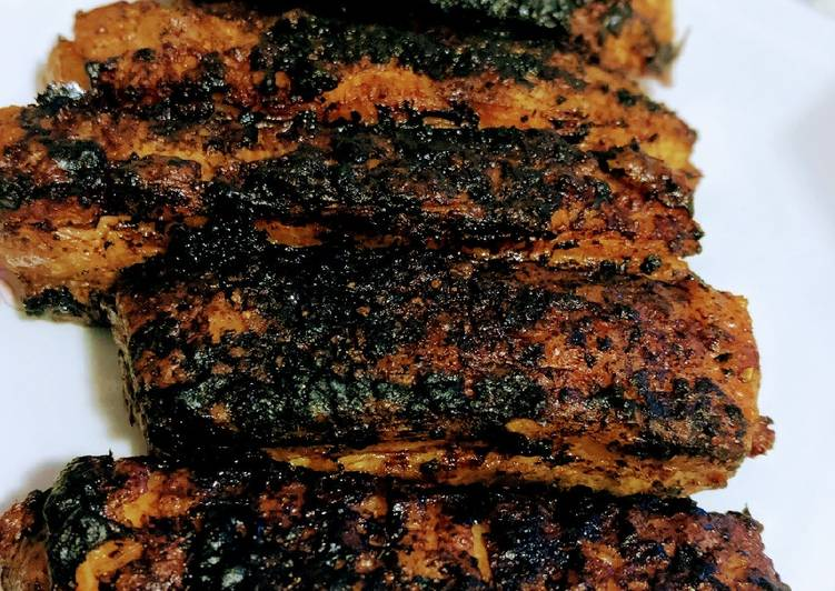 Recipe of Favorite Charred Pork Belly Strips 🐖🍖🔥