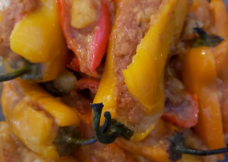 Steps to Prepare Homemade Stuffed peppers