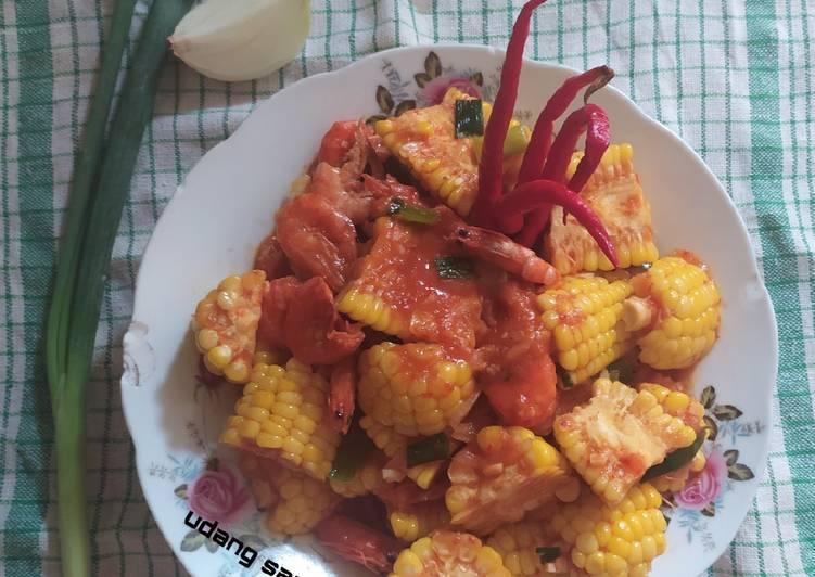 Udang saus padang simpel - cookandrecipe.com