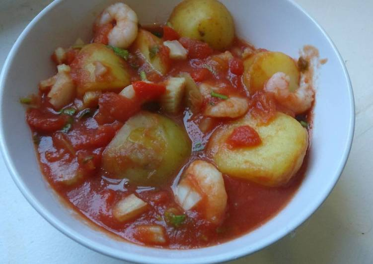 Quick n tasty, Prawn & Potato Stew