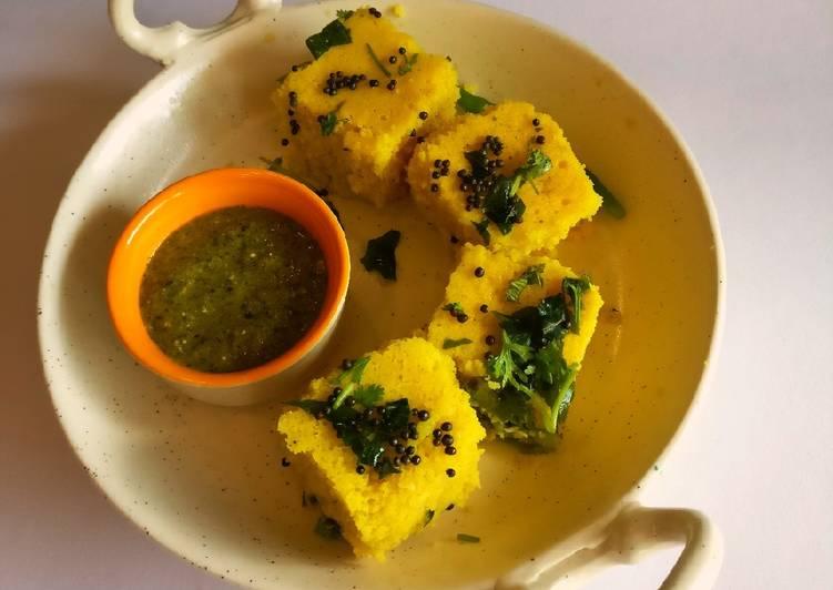 Recipe: Delicious Dhokla a healthy dish