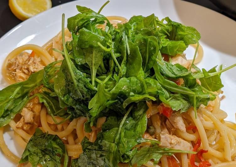 Simple Way to Prepare Perfect Bucatini tuna pasta
