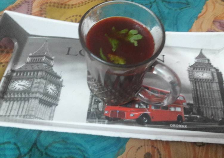 Kala Chana Soup.with vegies