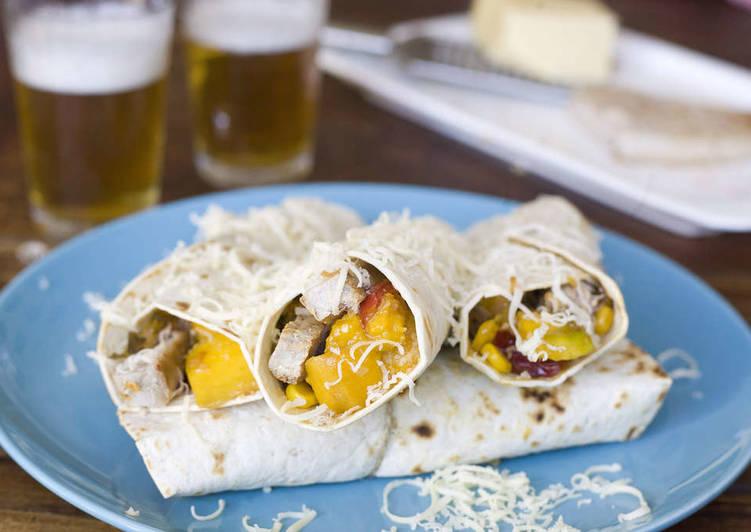 Recipe: Appetizing Burritos de atún y mango
