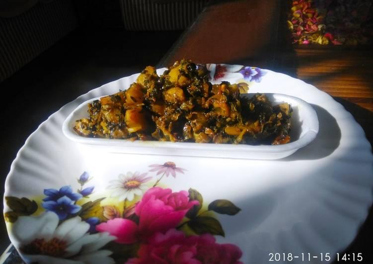 African Dish Traditional methi bhaaji