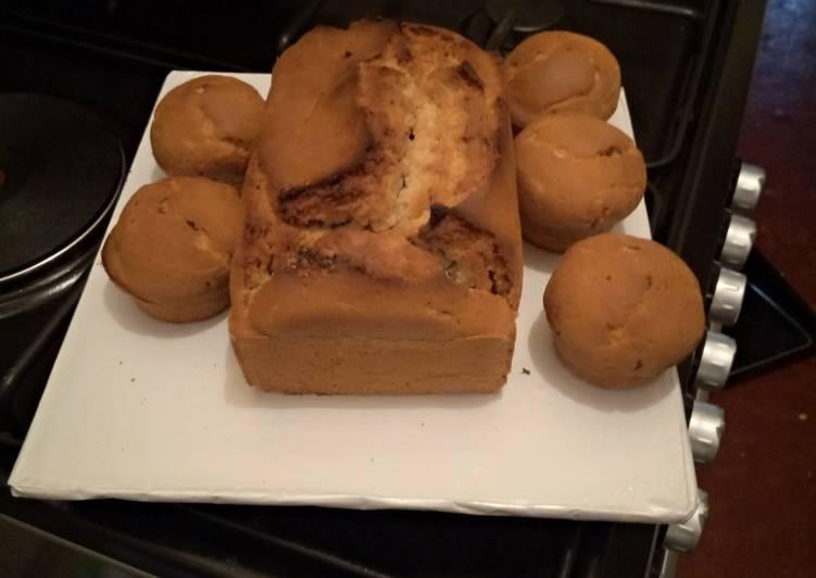 Banana bread and cupcakes
