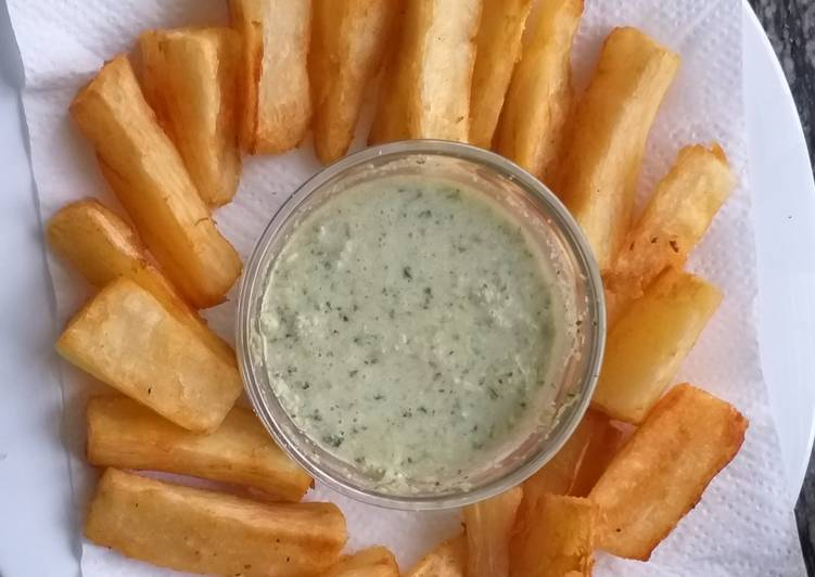 Recipe of Most Popular Fried Cassava n Coconut chutney
