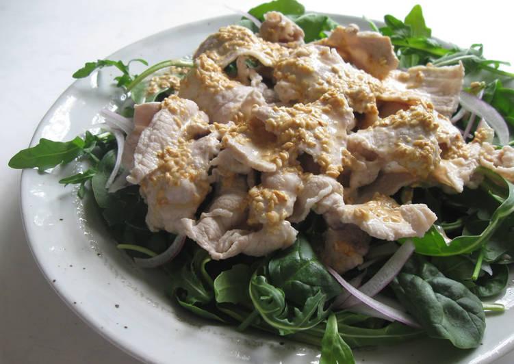 Cold Pork Salad with Sesame Dressing