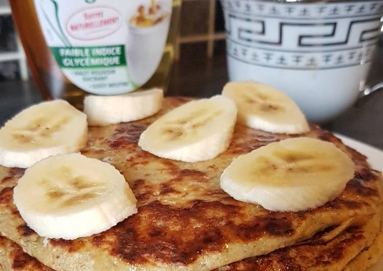 Comment faire Faire Délicieuse Pancakes au flocons d'avoine et à la banane