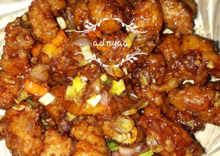 Resep Ayam Goreng Tepung Saus Mentega Stepbystep Seninsemangat Oleh Adnya Anandadhyaksa Cookpad