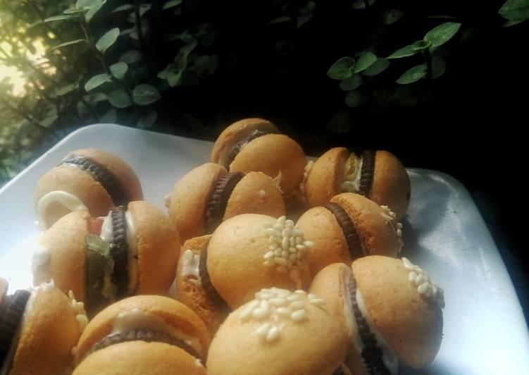 Eggdrop burger cookies
