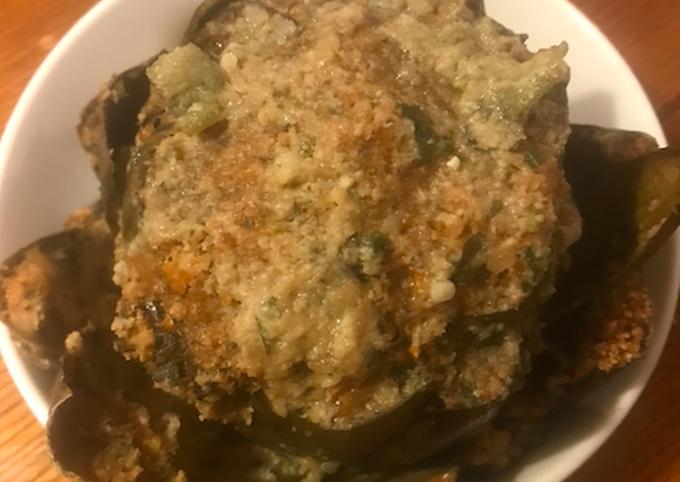 Steps to Prepare Jamie Oliver Stuffed Artichokes