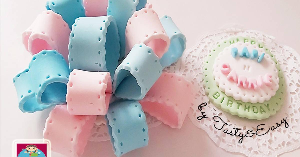 Resep Hiasan Kue Ulang Tahun Cantik Mudah Murah Hanya Dengan 1 Bahan Oleh Tastyeasyfood Cookpad