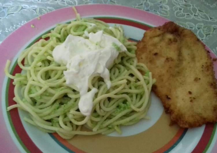 Espagueti Verde Receta De Araceli Garcia Cookpad