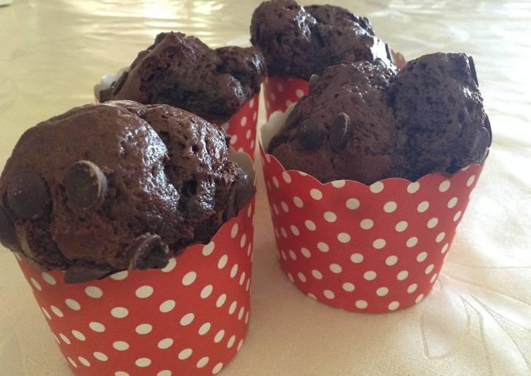 Muffins de chocolate estilo Starbucks