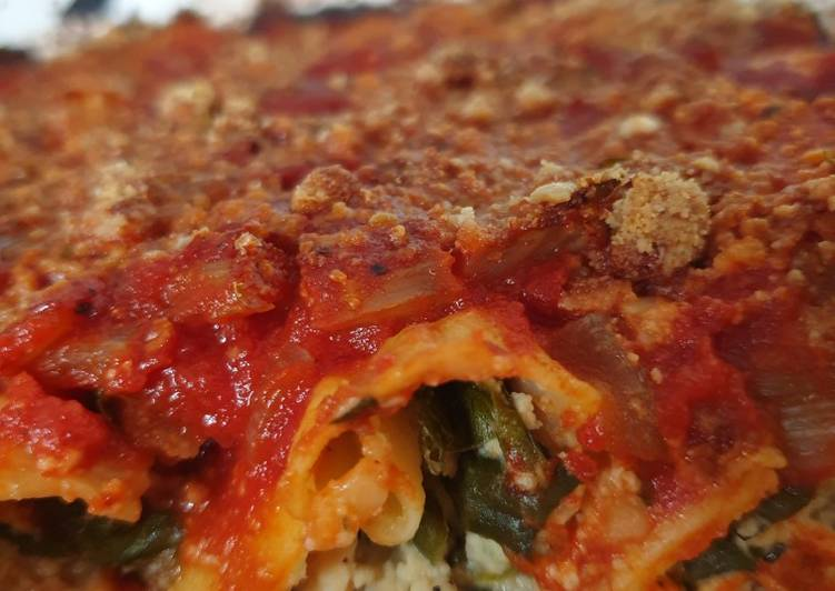 Vegan Spinach and 'Ricotta' Cannelloni