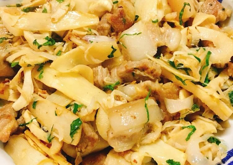 Cách Làm Món Măng tươi đắng xào thịt vai heo của Vân Đạm Phong Khinh -  Cookpad