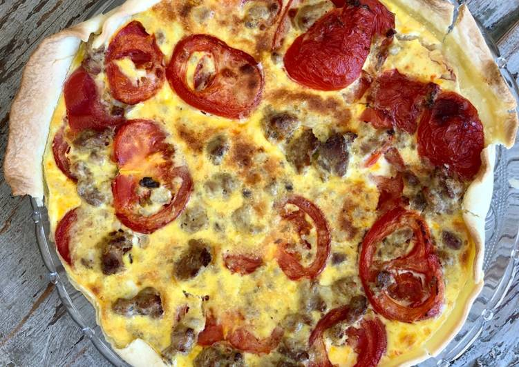 Délicieux Quiche tomates et thon