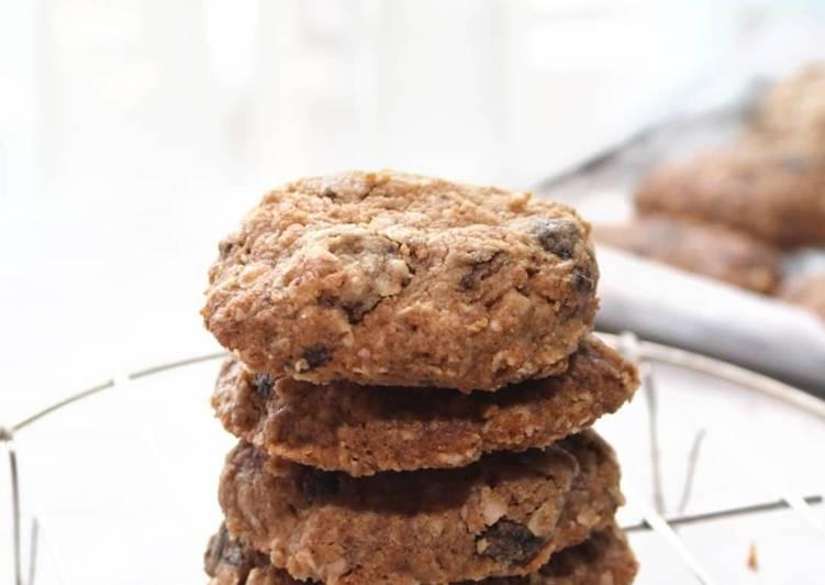 Skinny oatmeal peanut butter cookies egg free, gluten free