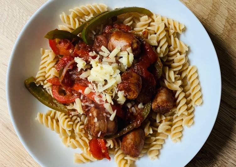 Simple Way to Prepare Speedy Sausage Pasta