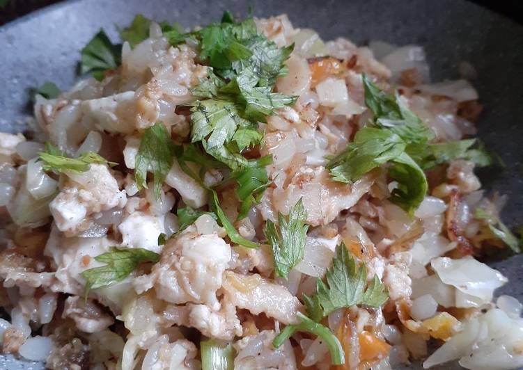 Cara membuat Nasi Goreng Keto Enuk
