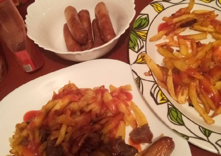 Step-by-Step Guide to Make Homemade Chips and sausage