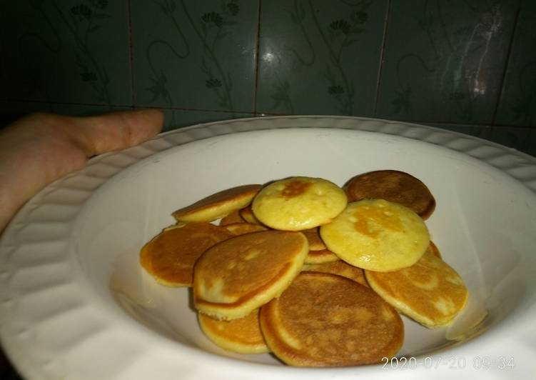Resep Mini Pancake Simple^^ Paling Mudah