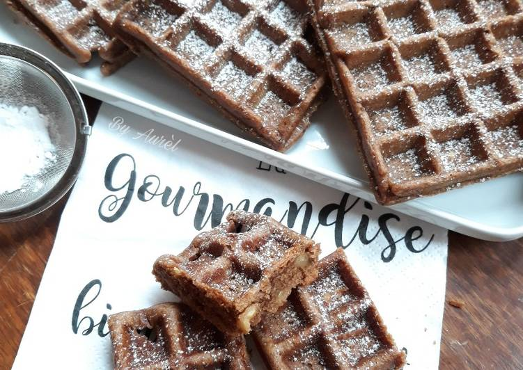 ☆Gaufres Brownie aux Noix☆