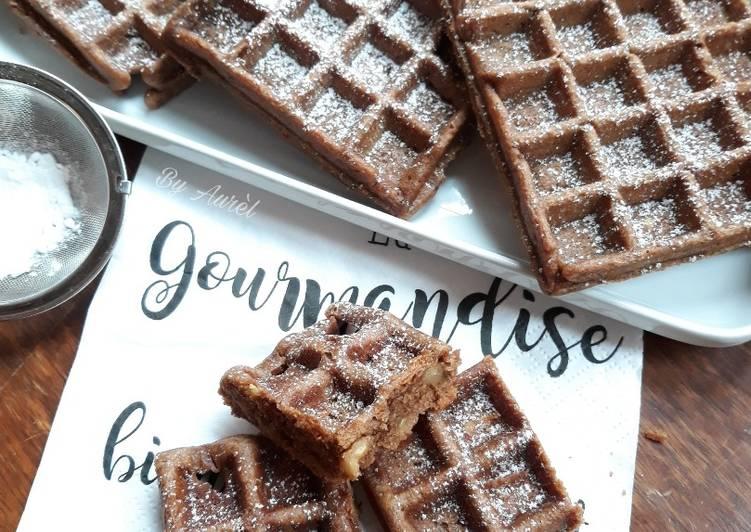Comment Préparer Les ☆Gaufres Brownie aux Noix☆