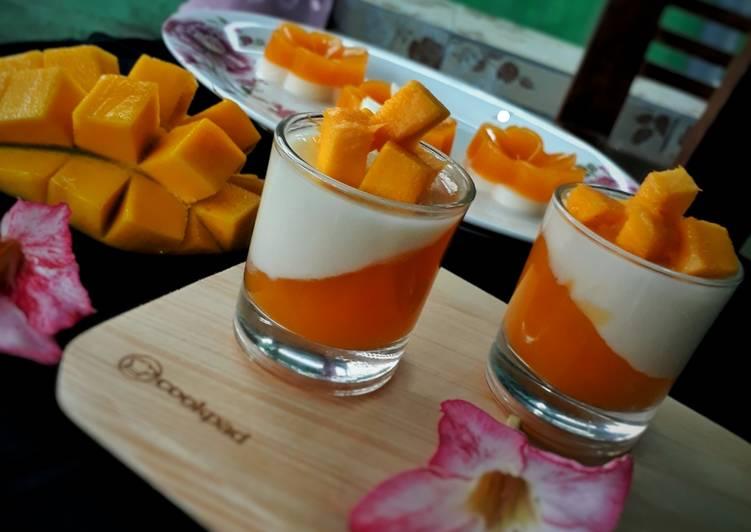 Puding Mangga Lapis Susu